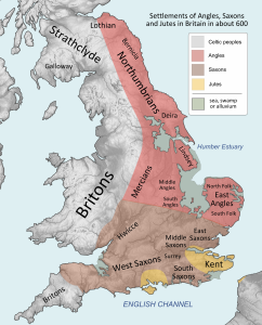 ANGSAX Britain peoples circa AD600